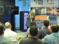 Alcalde Ramón Luis Rivera dirigiendo unas palabras a los participantes del evento, Bayamon Smart City Hackathon