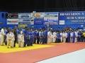 Presentación de equipos antes de comenzar la competencia