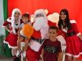 Niños junto a Santa