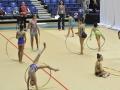 Niñas participando en el Caribbean Star Rhytmic Gymnastics Invitational