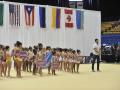 Niñas participantes del Caribbean Star Rhytmic Gymnastics Invitational