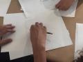 Muestras de las obras hechas por los participantes del taller