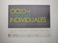 """Letrero Exhibición """"Ciclo de Exhibiciones Individuales Edición 1/5"""""""