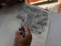 Participante dibujando