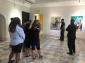Recorrido por el museo con participantes del taller