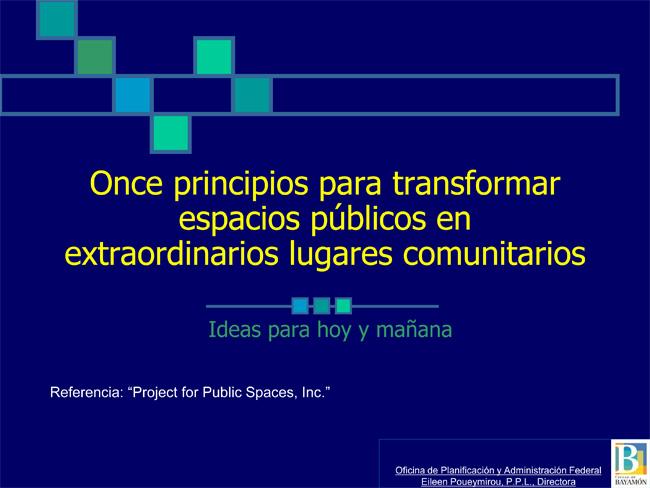 Once principios para transformar espacios públicos en extraordinarios