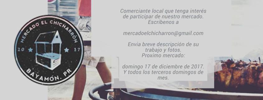 Evento: Mercado el Chicharron en El Nido 17 de diciembre 2017