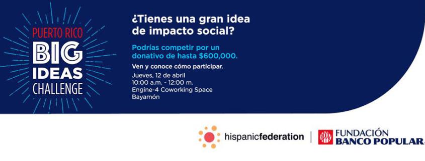 Puerto Rico Big Ideas challenge engine