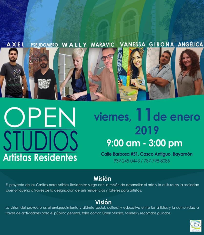Open Studios. 11 de enero 2019